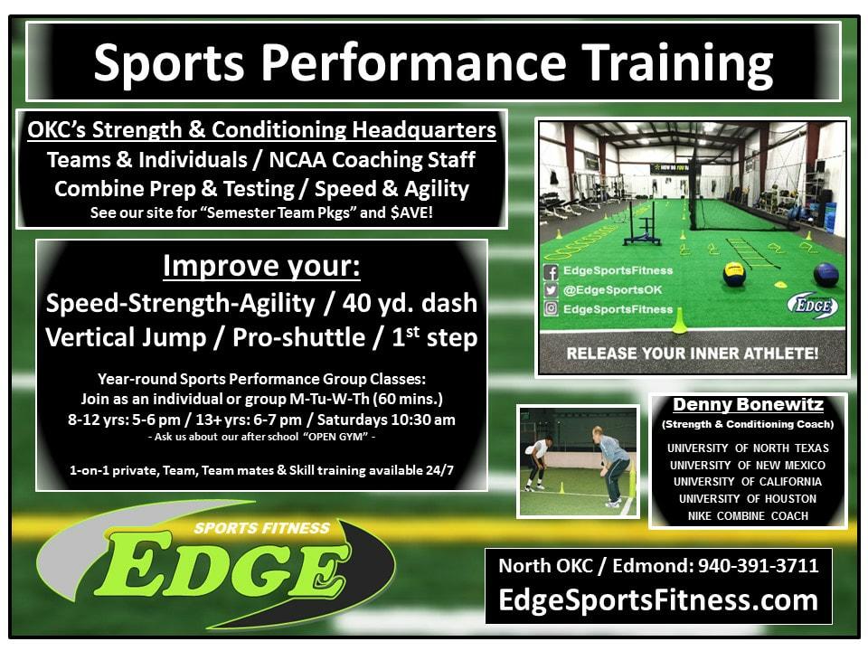 Edmond, OK | The Edge Sports Performance | Speed, Strength